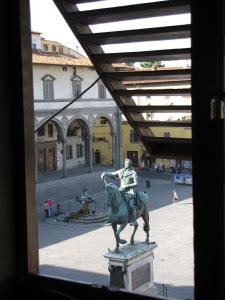 Florence: view from my hotel window