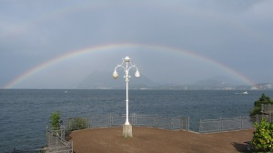 Rainbow on Lake Maggiore, seen from Stresa